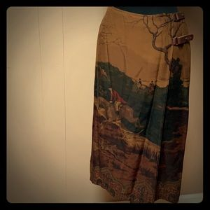 Equestrian wrap around skirt by Ralph Lauren